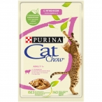 Корм Cat Chow Adult (в желе) для кошек, с ягненком и зеленым горошком, 85 г