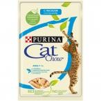 Корм Cat Chow Adult (в желе) для кошек,слососем изеленым горошком, 85 г