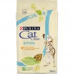Корм Cat Chow KITTEN для КОТЯТ, с домашней птицей, 1.5 кг