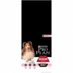 Корм Pro Plan Medium Sensitive Skin для собак средних пород 10-25 кг с чувствительной кожей с лососем, 14 кг