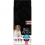 Корм Pro Plan Large Robust Sensitive Skin для собак крупных пород от 25 кг с мощным телосложением с чувствительной кожей с лососем, 14 кг
