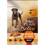 Корм Pro Plan Duo Delice Medium and Large для собак с говядиной, 2.5 кг