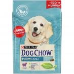 Корм Dog Chow Puppy Lamb для щенков до 1 года с ягненком, 2 кг +500г в подарок