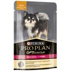 Корм PRO PLAN Adult OPTI SAVOUR (комплекс с высокой вкусовой привлекательностью) (в соусе) для собак малых пород, c уткой, 100 г