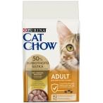 Корм Cat Chow Adult для взрослых кошек, с домашней птицей, 15 кг