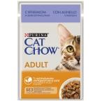 Корм Cat Chow Adult (в желе) для кошек, с ягненком и зеленой фасолью, 85 г