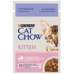 Корм Cat Chow KITTEN (в соусе) для КОТЯТ, с ягнёнком и кабачками, 85 г