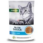 Корм PRO PLAN Sterilised (паштет) для стерилизованных кошек, с треской, 85 г