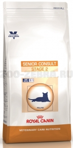 Корм Royal Canin Senior Consult Stage 2 для кошек старше 7 лет, имеющих видимые признаки старения, 400 г