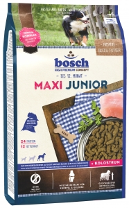 Корм Bosch Maxi Junior для щенков крупных и гигантских пород, с домашней птицей, 15 кг