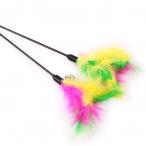 Игрушка-дразнилка с перьями и колокольчиком, 50 см
