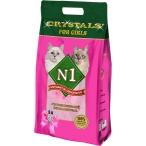 N1 Силикагелевый наполнитель для Кошечек, 5л: Розовый, 2 кг