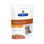 Корм Hill's Prescription Diet k/d Kidney Care пауч для кошек диета для поддержания здоровья почек с лососем 3410, 85 г