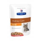 Корм Hill's Prescription Diet k/d Kidney Care пауч для кошек диета для поддержания здоровья почек с лососем 3410, 85 г