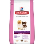Корм Hill's Science Plan Sensitive Skin & Stomach, Small & Miniature для собак мелких, миниатюрных пород для ЖКТ, кожи, шерсти (курица) 10516, 1.5 кг
