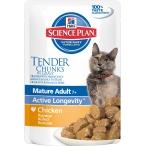Корм Hill's Science Plan Active Longevity пауч для кошек старше 7 лет курица 2111, 85 г