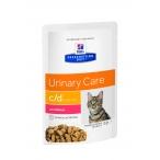 Корм Hill's Prescription Diet c/d Multicare Urinary Care пауч для кошек диета для поддержания здоровья мочевыводящих путей с лососем 3408, 85 г