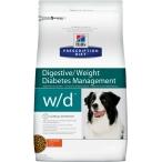 Корм Hill's Prescription Diet w/d Digestive/Weight Management для собак для оптимального веса и здоровья при сахарном диабете с курицей 6656, 1.5 кг