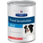 Корм Hill's Prescription Diet d/d Food Sensitivities консервы для собак для поддержания здоровья кожи и при пищевой аллергии с лососем 8004, 370 г