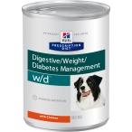Корм Hill's Prescription Diet w/d Digestive/Weight Management консервы для собак для оптимального веса при сахарном диабете с курицей 8017, 370 г
