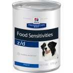 Корм Hill's Prescription Diet z/d Food Sensitivities консервы для собак диета для поддержания здоровья кожи и при пищевой аллергии 8018, 370 г