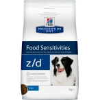 Корм Hill's Prescription Diet z/d Food Sensitivities для собак диета для поддержания здоровья кожи и при пищевой аллергии 8887, 3 кг