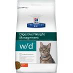 Корм Hill's Prescription Diet w/d Digestive/Weight Management для кошек для оптимального веса и здоровья при сахарном диабете курица 9191, 1.5 кг