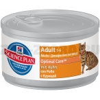 Корм Hill's Science Plan Optimal Care консервы для кошек от 1 до 6 лет с курицей 10801, 82 г