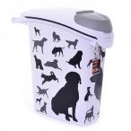 "Curver Контейнер для корма ""Собаки"", черно-белый, на 10 кг/23л, 23*50*50см (210341), 1,36 кг"