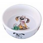 Dezzie Миска керамическая для собак, 300мл, 12,5*4,5см (5637009), 0,15 кг