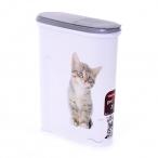 "Curver Контейнер для корма ""Кошка"" на 1,5 кг/4,5л, 25*10*30см (182007), 0,56 кг"