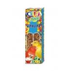 Cliffi Лакомства для Канареек: палочки с отборными зернами и медом (Sticks Canaries with health seeds and honey) PCOA412, 0,06 кг