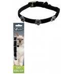 Papillon Светоотражающий ошейник для кошек 10мм-28см, черный (Reflective velvet cat collar 10 mm x 28 cm, colour black) 270101, 0,016 кг