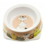 Dezzie Миска кремовая для кошек, 150мл, 12,5*12,5*4,5см, пластик (5619005), 0,05 кг