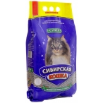 Сибирская кошка Супер Комкующийся наполнитель (крупные гранулы), 20л, 20 кг