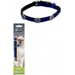 Papillon Светоотражающий ошейник для кошек 10мм-28см, синий (Reflective velvet cat collar 10 mm x 28 cm, colour blue) 270102, 0,016 кг