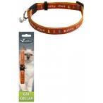 "Papillon Ошейник для кошек ""Китти"" 10мм-21-33см, оранжевый (Adjustable cat collar, 10 mm x 21 - 33 cm, Kitty cat, colour orange) 270111, 0,016 кг"