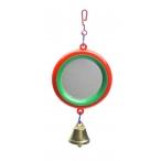 Yami-Yami Зеркало с колкольчиком для попугая (5011), 0,017 кг