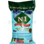 N1 Силикагелевый наполнитель (Crystals), 30л: СИНИЙ, 12,2 кг
