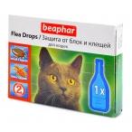 Beaphar Капли от блох для кошек 1 пипетка(диазинон), 0,026 кг
