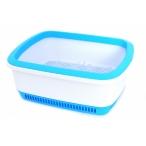 Canada Litter Кошачий туалет с системой защиты от запаха CatEco - синий, 0,8 кг