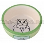 Dezzie Миска керамическая для грызунов, 300мл, 12,5*4,5см (5637002), 0,15 кг