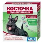 АВЗ (Агроветзащита) Подкормка Косточка Мультивитамин, 100таб., 0,219 кг