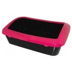 Dezzie Туалет для кошек 40,5*29*14см, с рамокй, пластик (5600041), 0,3 кг