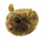 "Dezzie Виброигрушка ""Коричневая мышь"" для кошек, 10см, плюш (5605142), 0,04 кг"