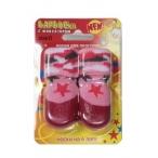 Барбоски Носки для Прогулок с латексным покрытием, на завязках, розовые, 4шт. 152678 (размер-2), 0,05 кг