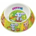 """Dezzie Миска """"Вкусный обед"""" для грызунов, 100мл, 12*12*4см, пластик (5619001), 0,06 кг"""