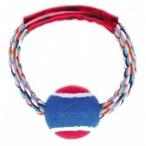 """Dezzie Игрушка """"Тяни-толкай """"Кольцо с мячом"""" для собак, 15см, хлопок, пластик (5608068), 0,12 кг"""