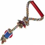 "Dezzie Игрушка ""Веревка № 1"" для собак, 50см, хлопок, пластик, резина (5608042), 0,26 кг"