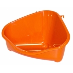 Moderna Туалет для грызунов pet's corner угловой большой, 49х33х26, оранжевый, 0,4 кг